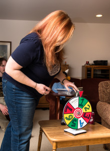Jen spins the Wheel of Destiny