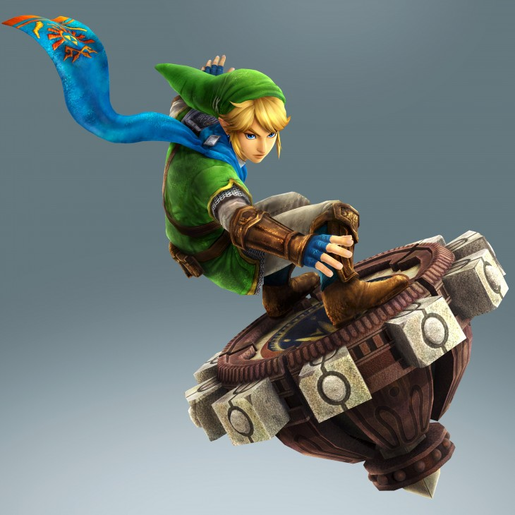 Link rides a... beyblade!?! In Hyrule Warriors