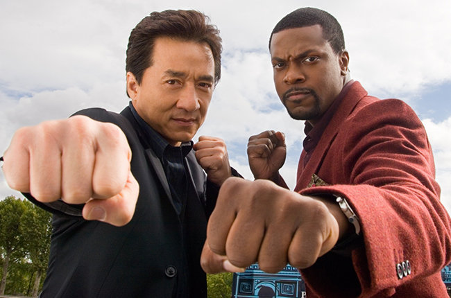 Jackie Chan with Chris Tucker in Rush Hour