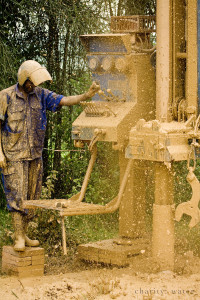 A well is drilled in Uganda