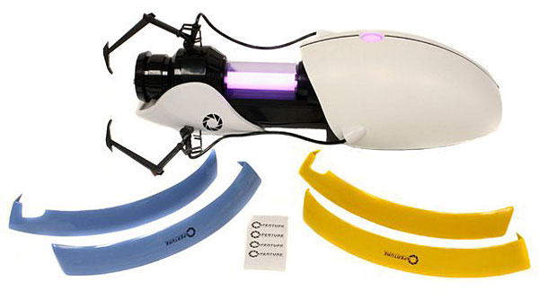 Custom Portal Gun donated by ThinkGeek