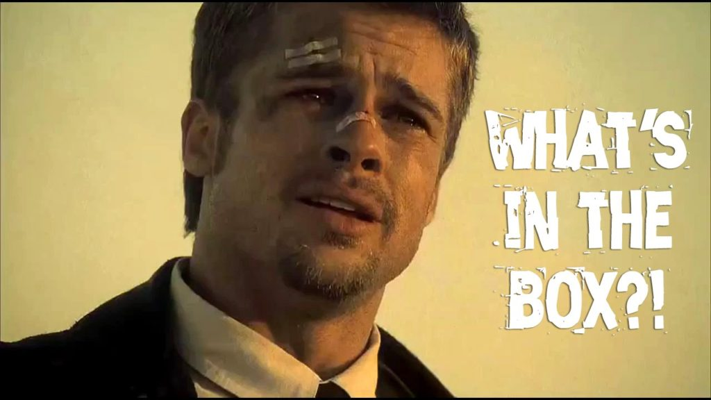 Brad Pitt, What's in the box?!? Mystery Games?!?